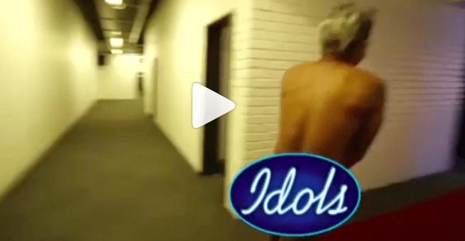 Video: Somizi Mhlongo stripsnaked and runs around LIVE on Idols SA