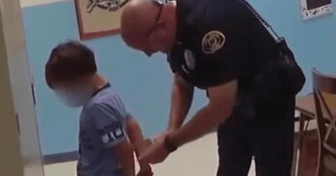 Bodycam footage shows 8-year-old boy arrested at school
