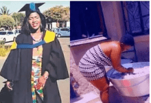Meet Smangele Ngema, a graduate but washes blankets for a living