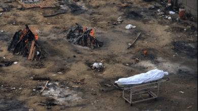 Mass cremations going on in India amid record-breaking COVID-19 surge