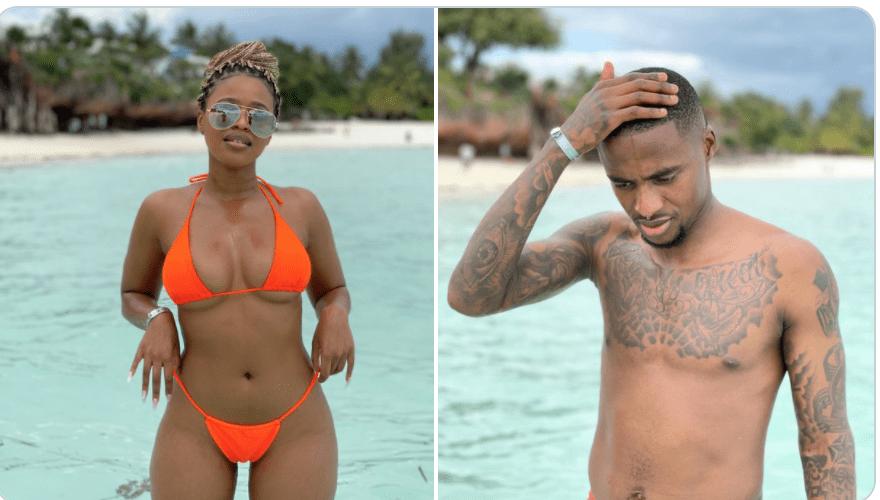 Orlando Pirates star Thembinkosi Lorch spotted in Zanzibar island romance with Natasha Thahane?