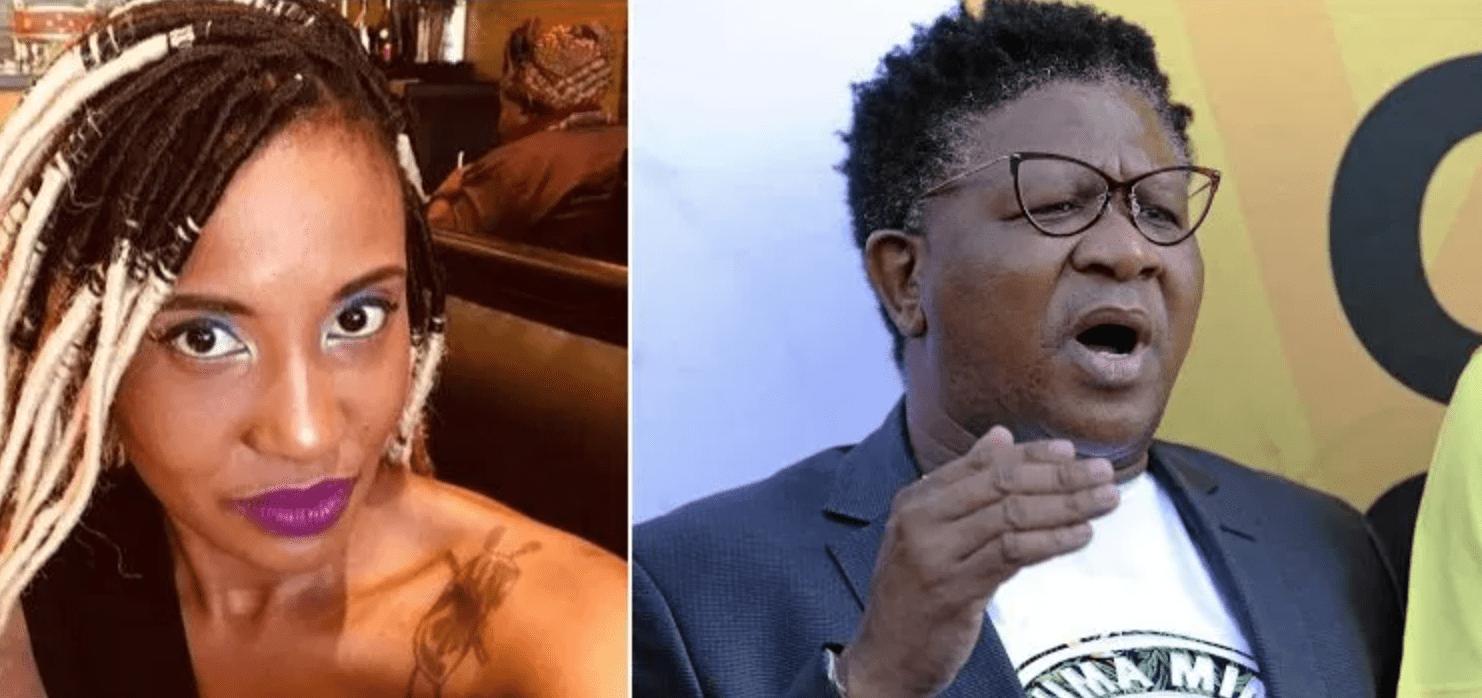"""You are a used condom""- Dudu Zuma insults Minister Fikile Mbalula in Public"
